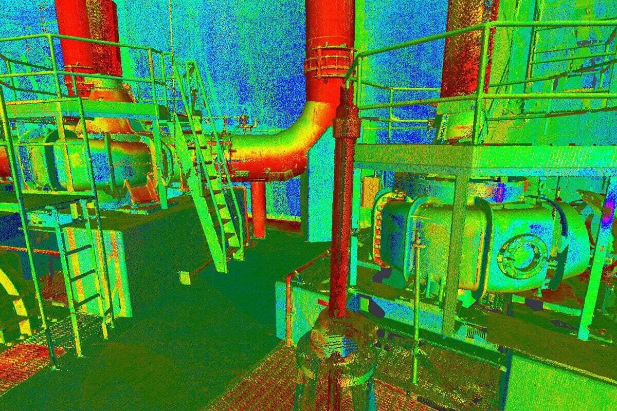 Scan 3D dans une station de Pompage de Québec