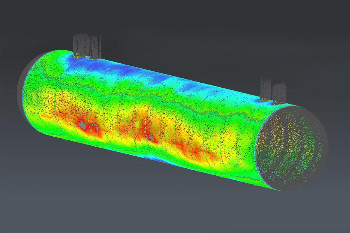 Analyse de déformation d'un réservoir en Nouvelle Calédonie
